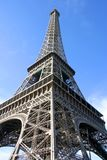 Eiffel Tower and Blue Sky in Paris France Stock Photo