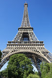Eiffel Tower in blue sky Stock Image