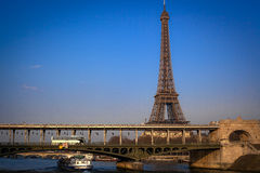 Eiffel tower with blue sky Royalty Free Stock Image