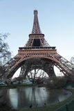 Eiffel tower from bottom Royalty Free Stock Images