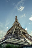 The eiffel tower from the bottom. Royalty Free Stock Photography