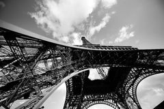 Eiffel Tower from the bottom. Paris, France Stock Image