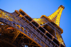 Eiffel Tower from the bottom. Paris, France Royalty Free Stock Photos