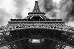 Eiffel tower from the bottom Stock Photography