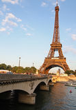 Eiffel Tower, Bridge and River Royalty Free Stock Photos