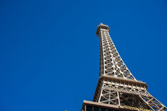 Eiffel tower on bright day Royalty Free Stock Images