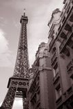 Eiffel Tower and Building, Paris Royalty Free Stock Photo