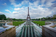 Eiffel tower with canyons Royalty Free Stock Image