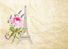 Eiffel tower card. Royalty Free Stock Photos