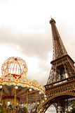 Eiffel Tower and Carousel Royalty Free Stock Image