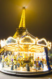 Eiffel Tower and a carousel Stock Photography