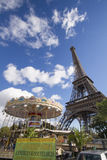 Eiffel Tower and carousel Royalty Free Stock Photo
