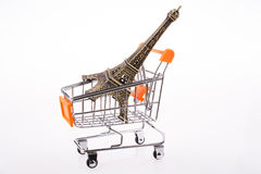 Eiffel Tower in a Cart Stock Images