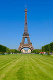 Eiffel Tower in the Champ de Mars Stock Photos