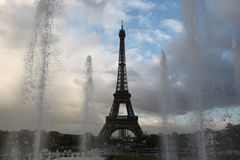 Eiffel Tower on the Champ de Mars in Paris. Royalty Free Stock Photo