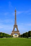 Eiffel Tower from Champ de Mars, Paris, France Stock Photography