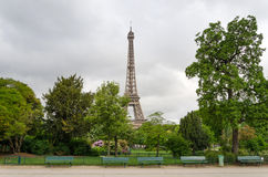 Eiffel Tower at Champ de Mars Park Royalty Free Stock Photos