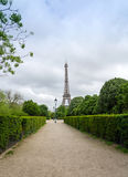 Eiffel Tower at Champ de Mars Park in Paris Stock Image