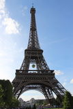 Eiffel Tower from Champ de Mars, Roland Garros tennis ball in Paris, France Stock Photography