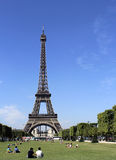 Eiffel Tower. From Champs de Mars in Paris Royalty Free Stock Photos