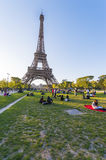 Eiffel Tower from Champs de Mars Stock Images