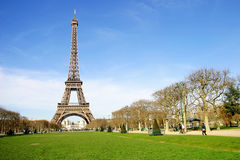 Eiffel Tower in the City of Paris, France Royalty Free Stock Photos