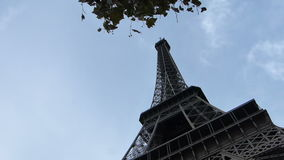 Eiffel Tower in the City of Paris France stock video footage