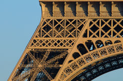 Eiffel Tower, close-up, Paris Stock Images