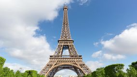 Eiffel Tower Timelapse Video over the Seine river stock video