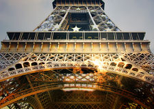 Eiffel tower closeup Royalty Free Stock Photo