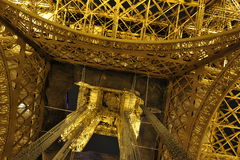 Eiffel Tower, Closeup from the Bottom Stock Images