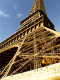 Eiffel Tower closeup at daylight - Paris. 2007, France Royalty Free Stock Photography