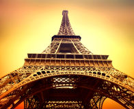 Eiffel Tower closeup, Paris, France Royalty Free Stock Photo