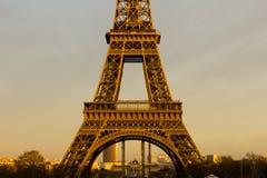 Eiffel Tower closeup at Sunset Stock Photography