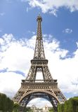 Eiffel tower on cloud sky Stock Image