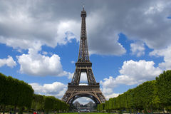 Eiffel tower clouds Royalty Free Stock Image