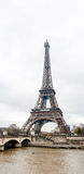 Eiffel Tower on a cloudy day Royalty Free Stock Image