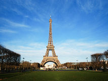 Eiffel Tower on cold winter day with blue sky Stock Photography