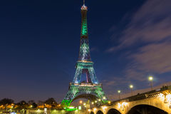 The Eiffel tower covered by a green visual forest, Paris, France Stock Photography