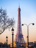 The Eiffel Tower at dawn Royalty Free Stock Photos
