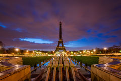 Eiffel Tower at dawn from Trocadero, Paris, France Royalty Free Stock Photo