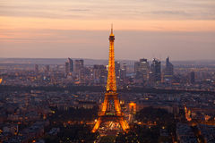 Night Paris. France. Top view. Stock Photos