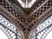 Eiffel Tower Detail. One of the four corners of the Eiffel tower in Paris, France stock images