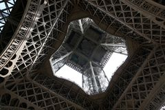 Eiffel Tower Detail Stock Photography