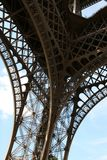 Eiffel Tower Detail. One of the four corners of the Eiffel tower in Paris, France stock photos