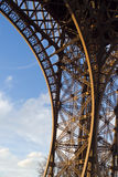 Eiffel tower detail. Structure detail of the Eiffel tower - Paris, France stock photography
