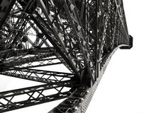 Eiffel Tower detail. In an awesome perspective from its base Royalty Free Stock Photo
