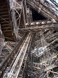 Eiffel Tower detail (Paris/France). Detail of the internal metal structure (7300 Tons Royalty Free Stock Images