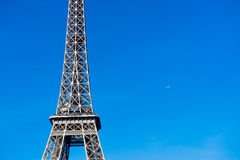 Eiffel tower detail with plane Stock Images