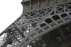 Eiffel Tower details. Close up of iron framework of Eiffel Tower, Paris, France Stock Image